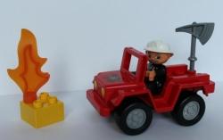 LEGO DUPLO 6169 HASIČI HASIČSKÉ AUTO VELITEL HASIČŮ