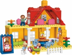 LEGO DUPLO 5639 RODINNÝ DOMEK DŮM TÁTA MÁMA DÍTĚ HOUPAČKA