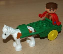 LEGO DUPLO KŮŇ VOZÍK