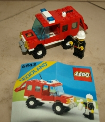 LEGO 6643 LEGOLAND HASIČI VELITEL AUTO
